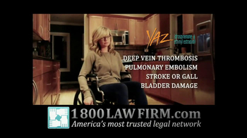 1-800-LAW-FIRM TV Spot For Injured By Yaz - Thumbnail 4