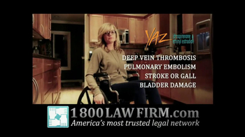 1-800-LAW-FIRM TV Spot For Injured By Yaz - Thumbnail 5