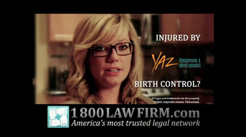1-800-LAW-FIRM TV Spot For Injured By Yaz - Thumbnail 6
