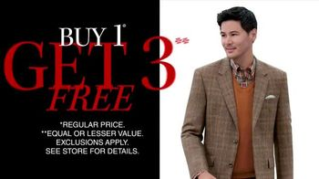 JoS. A. Bank TV Spot, 'Three Free Suits, Sports, or Outerwear Coats'