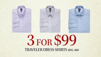 JoS. A. Bank Black Friday Doorbusters TV Spot, 'Traveler Shirts' - Thumbnail 4