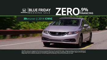 Honda Blue Friday Weekend Sale TV Spot, 'Save Thousands' - Thumbnail 4