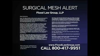 Flood Law Group TV Spot, 'Surgical Mesh Alert' - Thumbnail 10