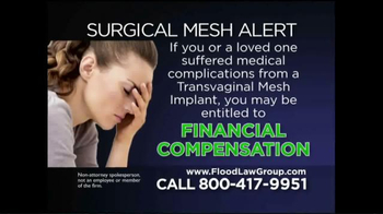 Flood Law Group TV Spot, 'Surgical Mesh Alert' - Thumbnail 5