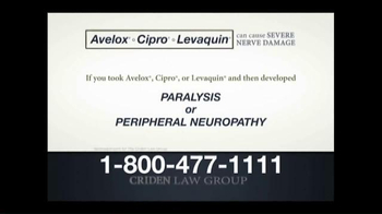 Criden Law Group TV Spot, 'Avelox Cipro Levaquin' - Thumbnail 5