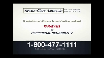 Criden Law Group TV Spot, 'Avelox Cipro Levaquin' - Thumbnail 6