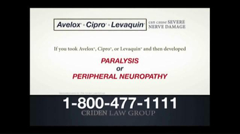 Criden Law Group TV Spot, 'Avelox Cipro Levaquin' - Thumbnail 7