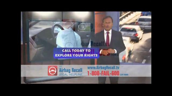 The Airbag Recall Legal Helpline TV Spot, 'Airbag Explosion' - Thumbnail 9