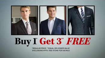 JoS. A. Bank TV Spot, 'One Day Only, Buy One Get Two Free' - Thumbnail 2