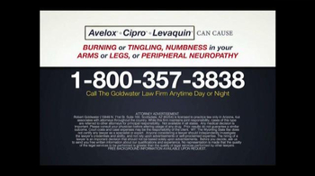 Goldwater Law Firm TV Spot, 'Avelox, Cipro and Levaquin' - Thumbnail 3