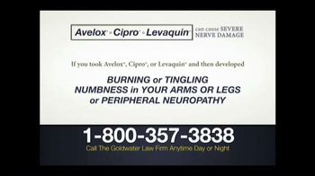 Goldwater Law Firm TV Spot, 'Avelox, Cipro and Levaquin' - Thumbnail 1