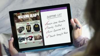 Microsoft Surface TV Spot, 'The Walking Dead: Holiday Shopping' - Thumbnail 8