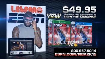 ESPN Magazine TV Spot, 'NBA 2K15 With Your Subscription' - Thumbnail 9