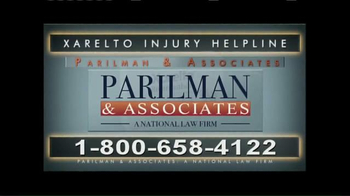 Parilman & Associates TV Spot, 'Xarelto Alert'
