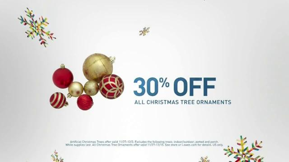 lowes black friday deals tv commercial christmas decorations ispottv - Black Friday Deals Christmas Decorations