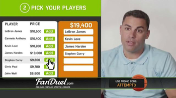 FanDuel One-Day Fantasy Basketball Leagues TV Spot, 'Nothing to Lose' - Thumbnail 5