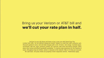 Sprint TV Spot, 'Cut Your Bill in Half' - Thumbnail 9