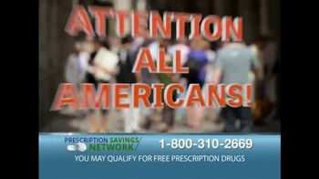 Prescription Savings Network TV Spot, 'Attention All Americans' - Thumbnail 1