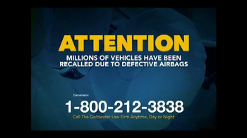 Goldwater Law Firm TV Spot, 'Defective Airbags' - Thumbnail 1