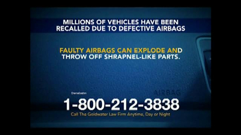 Goldwater Law Firm TV Spot, 'Defective Airbags' - Thumbnail 3