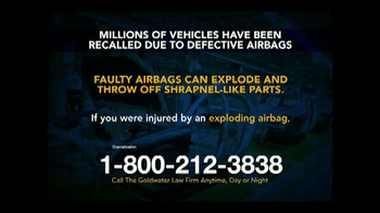 Goldwater Law Firm TV Spot, 'Defective Airbags' - Thumbnail 4