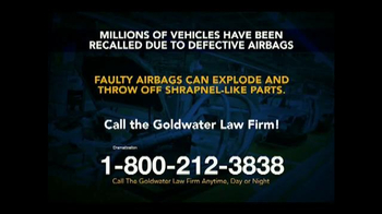 Goldwater Law Firm TV Spot, 'Defective Airbags' - Thumbnail 5