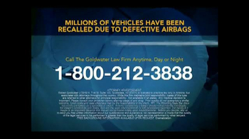 Goldwater Law Firm TV Spot, 'Defective Airbags' - Thumbnail 7