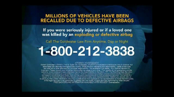 Goldwater Law Firm TV Spot, 'Defective Airbags' - Thumbnail 8