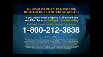 Goldwater Law Firm TV Spot, 'Defective Airbags' - Thumbnail 9