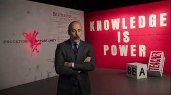 The More You Know TV Spot, 'Knowledge is Power' Featuring Matt Lauer - Thumbnail 1