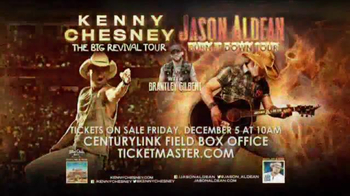 Kenny Chesney The Big Revival Tour, Jason Aldean Burn It Down Tour TV Spot - 2 commercial airings