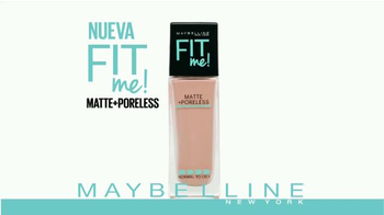 Maybelline New York Fit Me Matte + Poreless Foundation TV Spot [Spanish] - Thumbnail 2