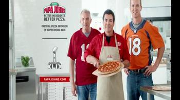 Papa John's TV Spot, 'Super Bowl 2015 Free Pizza Promo' Ft. Peyton Manning - Thumbnail 8