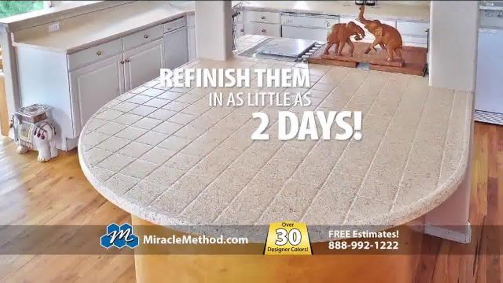 Miracle Method TV Commercial, U0027Embarrassed By Your Ugly Kitchen Countertops?u0027    ISpot.tv