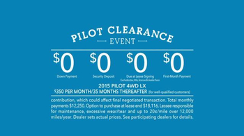 2015 Honda Pilot TV Spot, 'Pilot Clearance Event: Tuesday Test' - Thumbnail 8