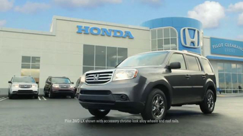 2015 Honda Pilot TV Spot, 'Pilot Clearance Event: Tuesday Test' - Thumbnail 1
