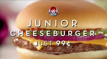 Wendy's Junior Cheeseburger TV Spot, 'Football Coin Toss' - Thumbnail 3