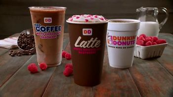 Dunkin' Donuts White Chocolate Raspberry Lattes and Coffees TV Spot - Thumbnail 10