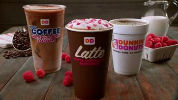 Dunkin' Donuts White Chocolate Raspberry Lattes and Coffees TV Spot - Thumbnail 9