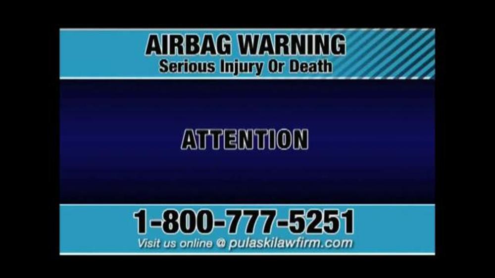 Pulaski & Middleman TV Commercial, 'Airbag Warning'