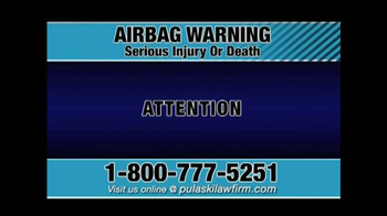 Pulaski & Middleman TV Spot, \'Airbag Warning\'