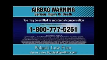 Pulaski & Middleman TV Spot, 'Airbag Warning' - Thumbnail 9