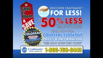 Craftmatic Collossal Closeout Celebration TV Spot, 'Call and Decide' - Thumbnail 10