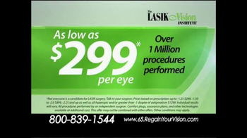 The LASIK Vision Institute TV Spot, 'Tired of Glasses and Contacts?' - Thumbnail 3