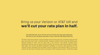 Sprint Cut Your Bill in Half Event TV Spot, 'Say Goodbye' - Thumbnail 10