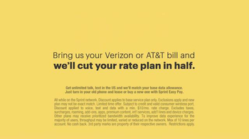 Sprint Cut Your Bill in Half Event TV Spot, 'Say Goodbye' - Thumbnail 9