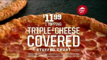Pizza Hut Triple Cheese Covered Stuffed Crust TV Spot, 'Play' Ft. Tony Romo - Thumbnail 4