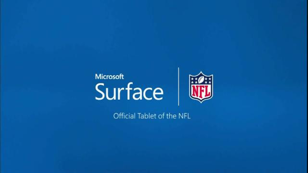 Microsoft Surface Pro 3 TV Commercial, 'Patriots vs. Ravens Adjustment'