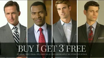JoS. A. Bank Buy One Get Three Free TV Spot, 'Trimmer, Slimmer, Smarter' - Thumbnail 7