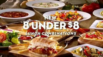 Olive Garden TV Spot, 'New 8 Under $8 Lunch Combinations'
